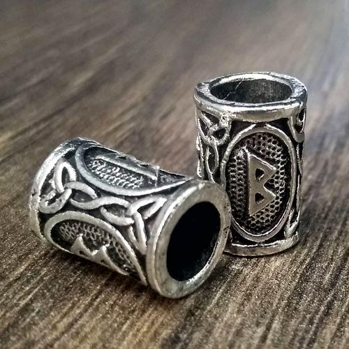 Viking Beard Beads Berkana Rune Norse Futhark Beard Rings