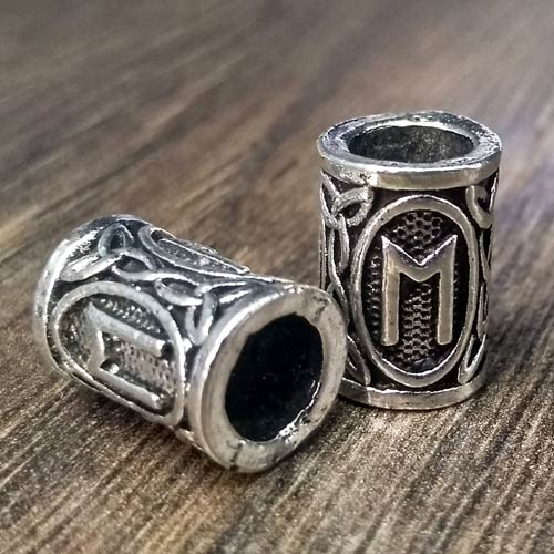 Viking Beard Beads Ehwaz Rune Norse Futhark Beard Rings