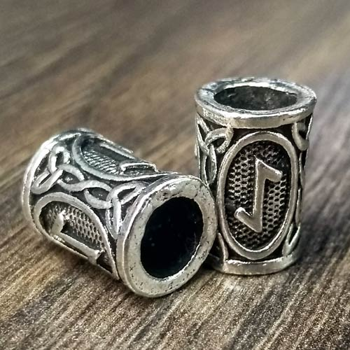 Viking Beard Beads Eihwaz Rune Norse Futhark Beard Rings