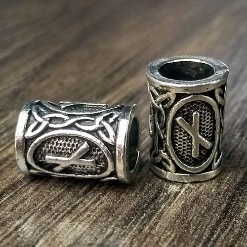 Viking Beard Beads Nauthiz Rune Norse Futhark Beard Rings