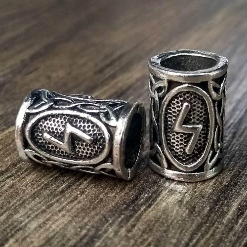 Viking Beard Beads Sowilo Rune Norse Futhark Beard Rings