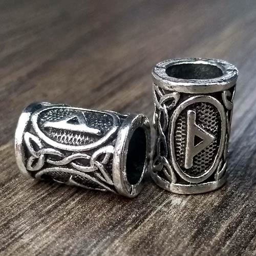 Viking Beard Beads Thurisaz Rune Norse Futhark Beard Rings
