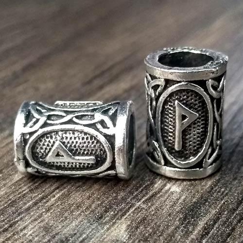 Viking Beard Beads Wunjo Rune Norse Futhark Beard Rings