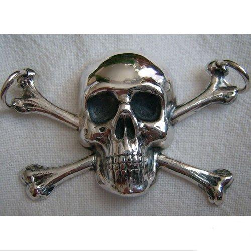 Skull and Crossbones Pendant Biker Pendant