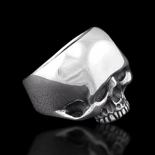 Biker Ring Motorcycle Ring - Biker Skull Ring - The Oval