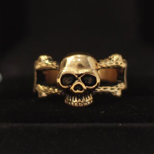 Biker Ring Motorcycle Ring Skull and Crossbones Ring