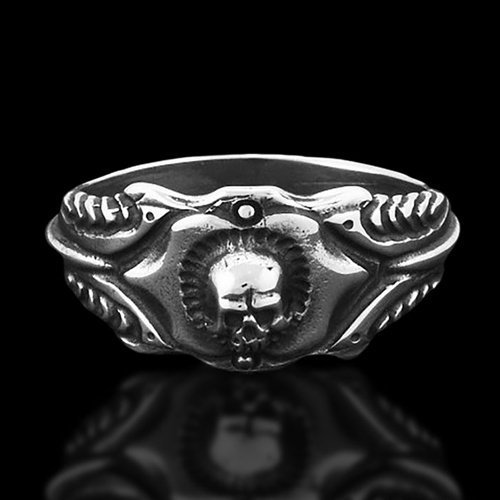 Biker Ring Skull Ring - The Predator