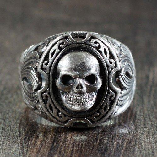 Men Biker Ring Vintage Biker Skull Ring