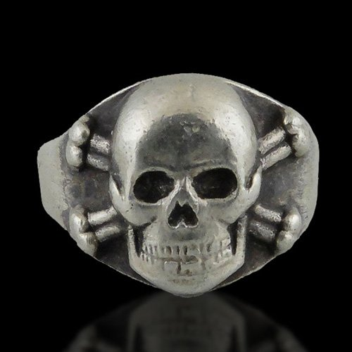Mens Biker Ring - Biker Skull and Crossbones Ring