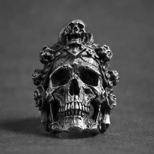 Vintage Biker Skull Ring Men's Death Head Skull Ring