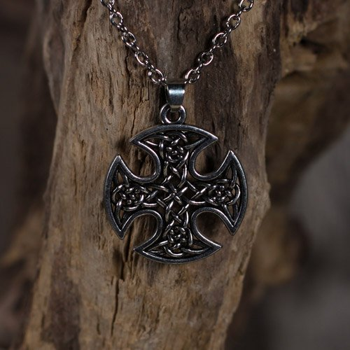 Norse Celtic Pendant Celtic Cross with Knot