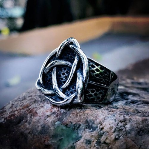 Triquetra Ring Viking Celtic Knot Ring