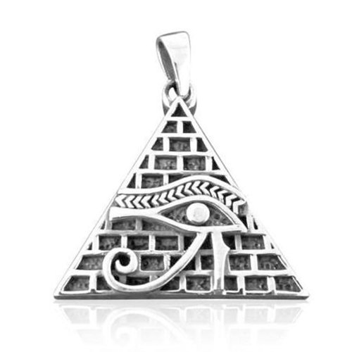 Eye of Horus Pendant Egyptian Amulet - Pyramid Pendant