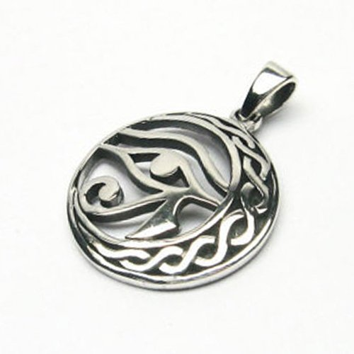 Eye of Horus Pendant Sickle Moon Egyptian Amulet