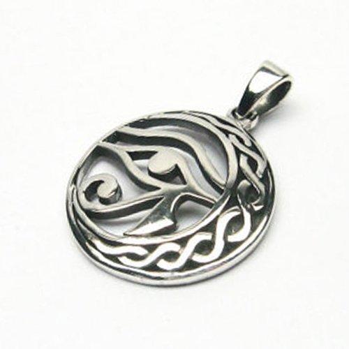 Eye of Horus Pendant Sickle Moon Egyptian Amulet