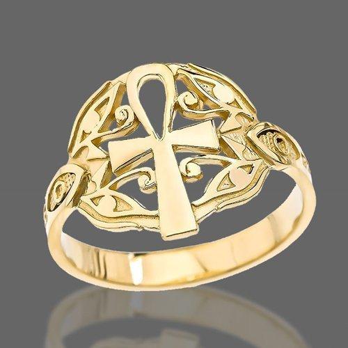 Ankh Ring Key of Nile Egyptian Cross - Egyptian Ring
