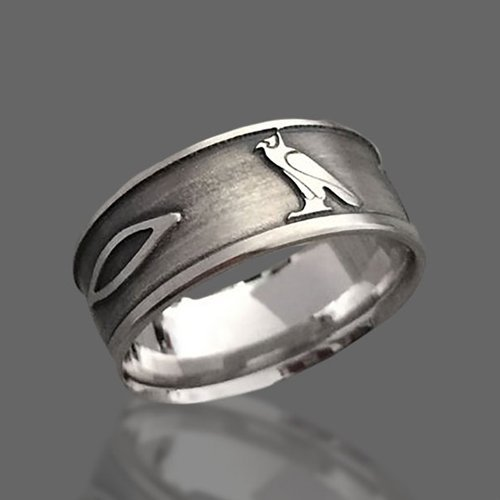 Custom Hieroglyphs Ring Egyptian Hieroglyphs Name Band Ring