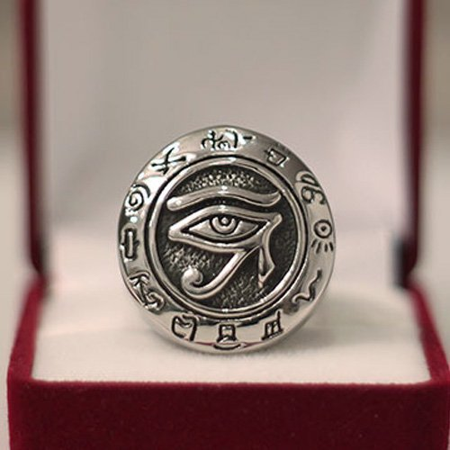 Eye of Horus Ring - Egyptian Ring Hieroglyphic Ring