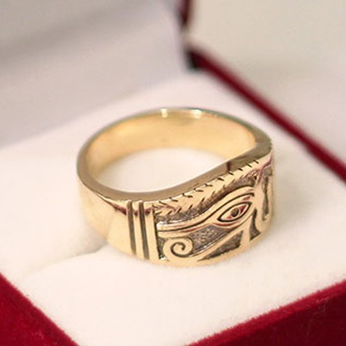 Eye of Horus Ring Eye of Ra Band Ring - Egyptian Ring