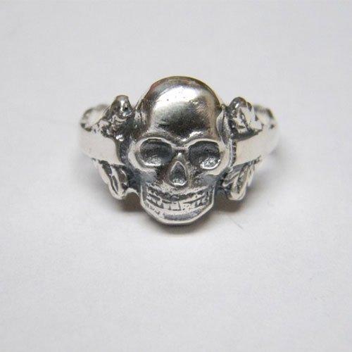 German Skull Ring Skull and Bones