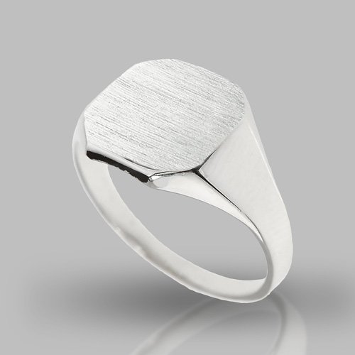 Monogram Ring - Custom Initial Letter Ring Square Shape Stylish