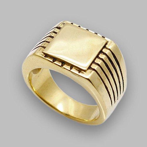 Monogram Ring - Custom Initial Letter Ring Square The Precision