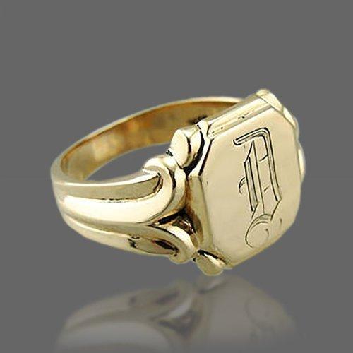 Monogram Ring - Custom Initial Letter Ring Vintage Retro