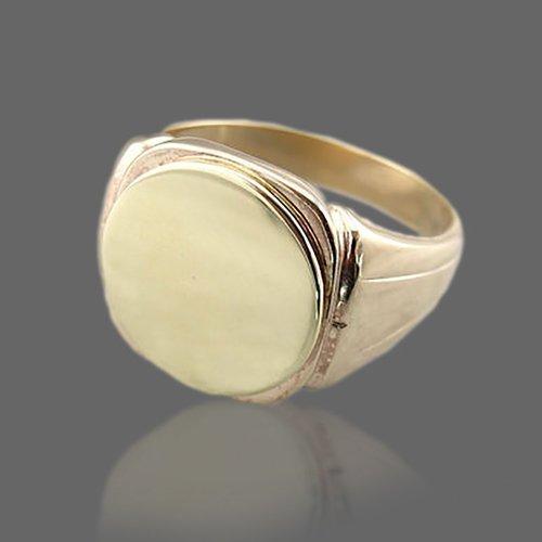 Monogram Ring - Custom Initial Signet Ring Classic Oval Shape