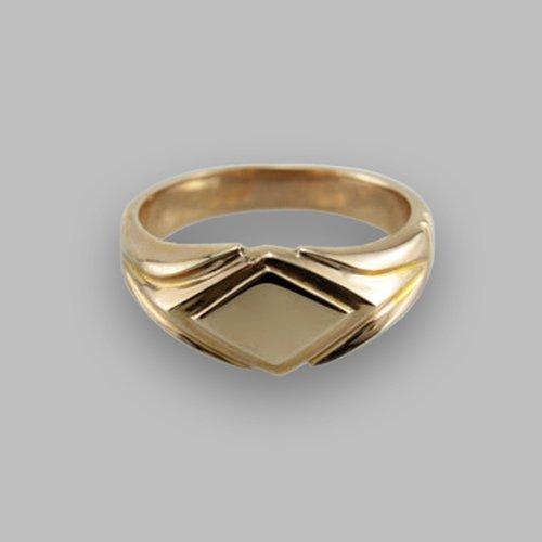 Monogram Ring - Custom Initial Signet Ring Diamond Shape