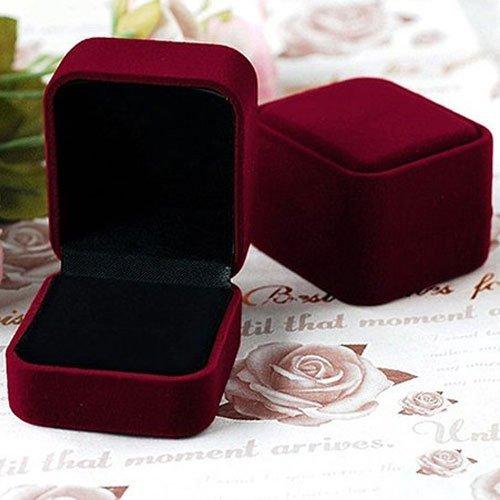 Luxury Velvet Ring Box, Multi Colors, 6x5x4cm