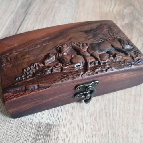 Handmade Vintage Wooden Box for Wood Carving Tools