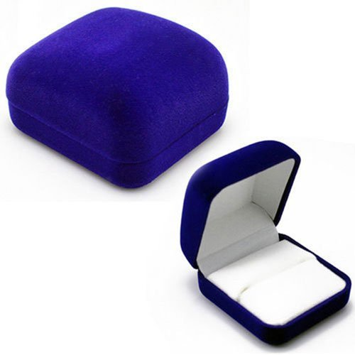 Velvet Ring Box, Multi Colors, 6x5x3cm