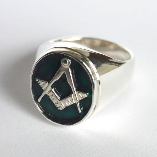Blue Lodge Masonic Ring Enamel Master Mason Ring