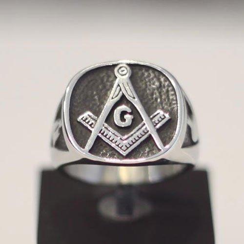 Blue Lodge Ring Masonic Ring Plumb and Trowel