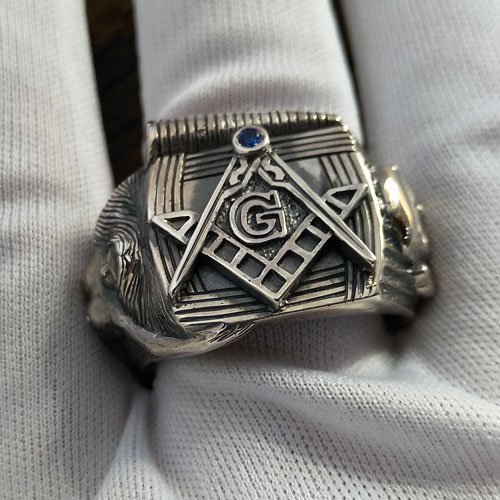 Custom Masonic Ring Unique Freemason Ring