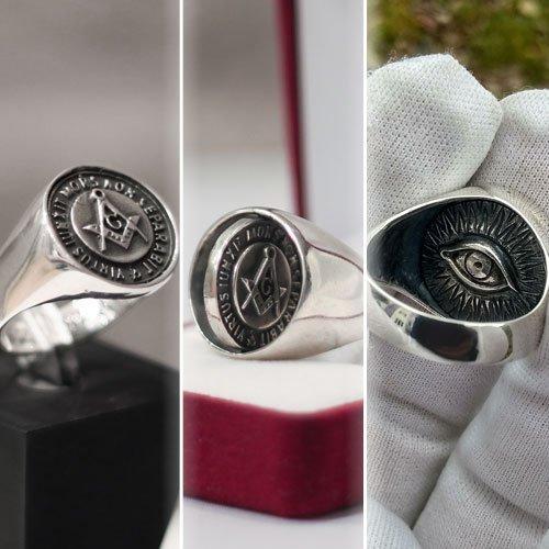 Reversible Masonic Ring Swivel Ring Scottish Rite Ring