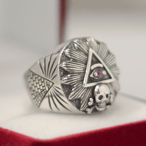 Illuminati Ring Freemason Eye of Providence Ring