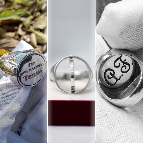 Custom Reversible Head Ring Letter Ring