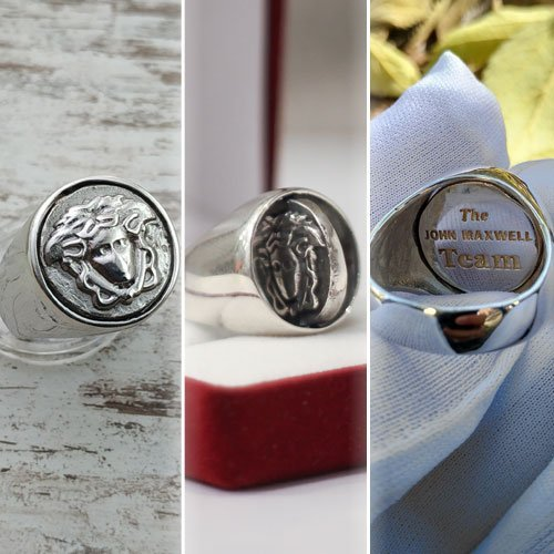 Custom Reversible Ring Family Crest Ring