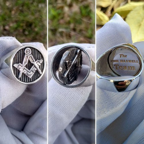 Blue Lodge Masonic Ring Custom Ring Reversible Head