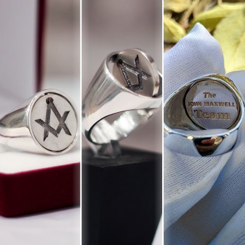 Reversible Head Masonic Ring Custom Signet Ring