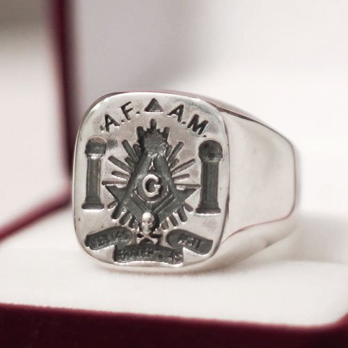 Masonic Ring AF and AM Masonic Lodge Ring