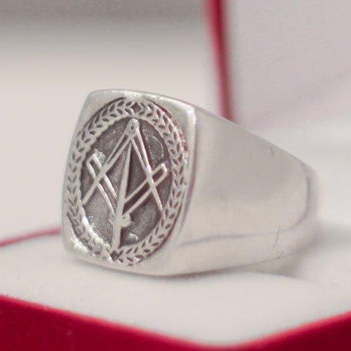 Masonic Ring Freemason Square and Compass Ring