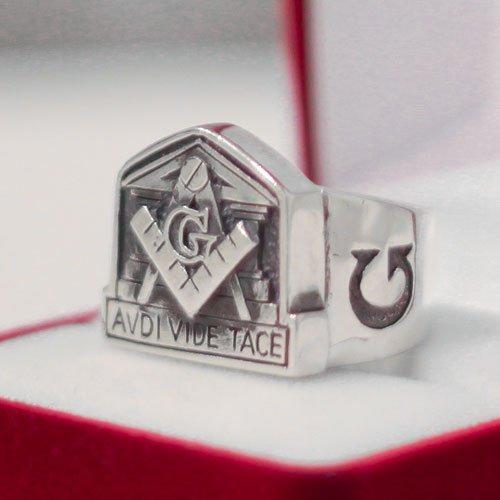 Masonic Ring United Grand Lodge of England Avdi Vide Tace