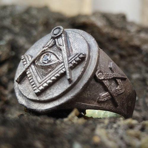 Masonic Ring Vintage Blue Lodge Masonic Ring Eye of Providence