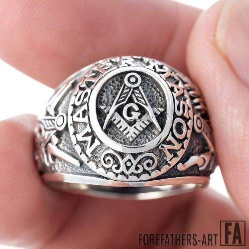 Master Mason Ring Blue Lodge Masonic Ring Freemason