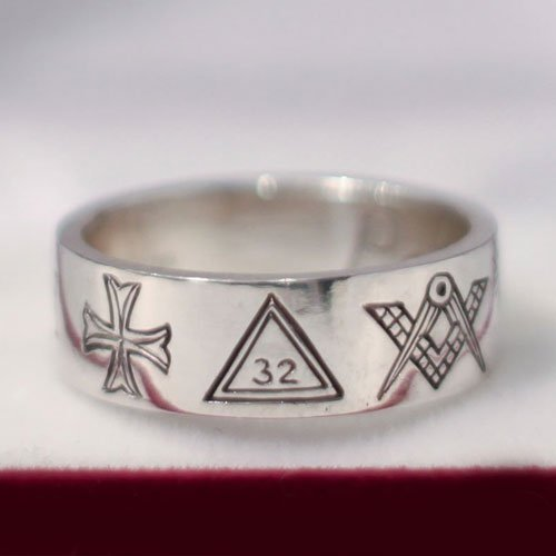 Scottish Rite 32nd Degree Masonic Ring Masonic Band Ring