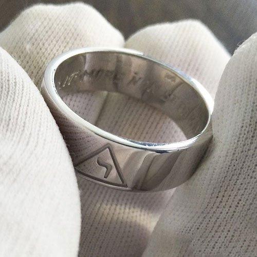 Scottish Rite Ring 14th Degree Yod Ring Masonic Band Ring