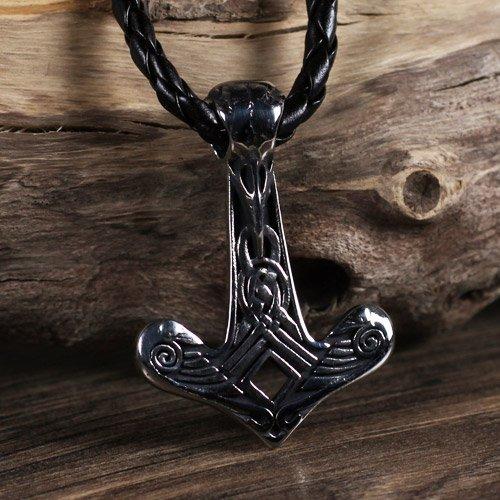 Mjolnir Pendant Viking Odin's Raven Pendant