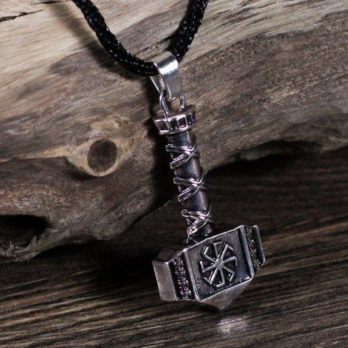 Thors Hammer Pendant Mjolnir Viking Swastika Pendant